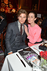 OLIVER CHESHIRE and ERIN O'CONNOR at the LDNY Fashion Show and WIE Award Gala sponsored by Maserati held at The Goldsmith's Hall, Foster Lane, City of London on 27th April 2015.