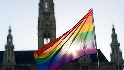 THEMENBILD - Vienna Pride mit dem Highlight der Regenbogenparade ist eine politische Veranstaltung die für die Gleichberechtigung von Schwulen und Lesben kämpft. Aufgenommen am 14.06.2017 in Wien, Österreich // The Vienna Pride is an political event wich fights for the rights for gay people . Vienna, Austria on 2017/06/14. EXPA Pictures © 2017, PhotoCredit: EXPA/ Michael Gruber