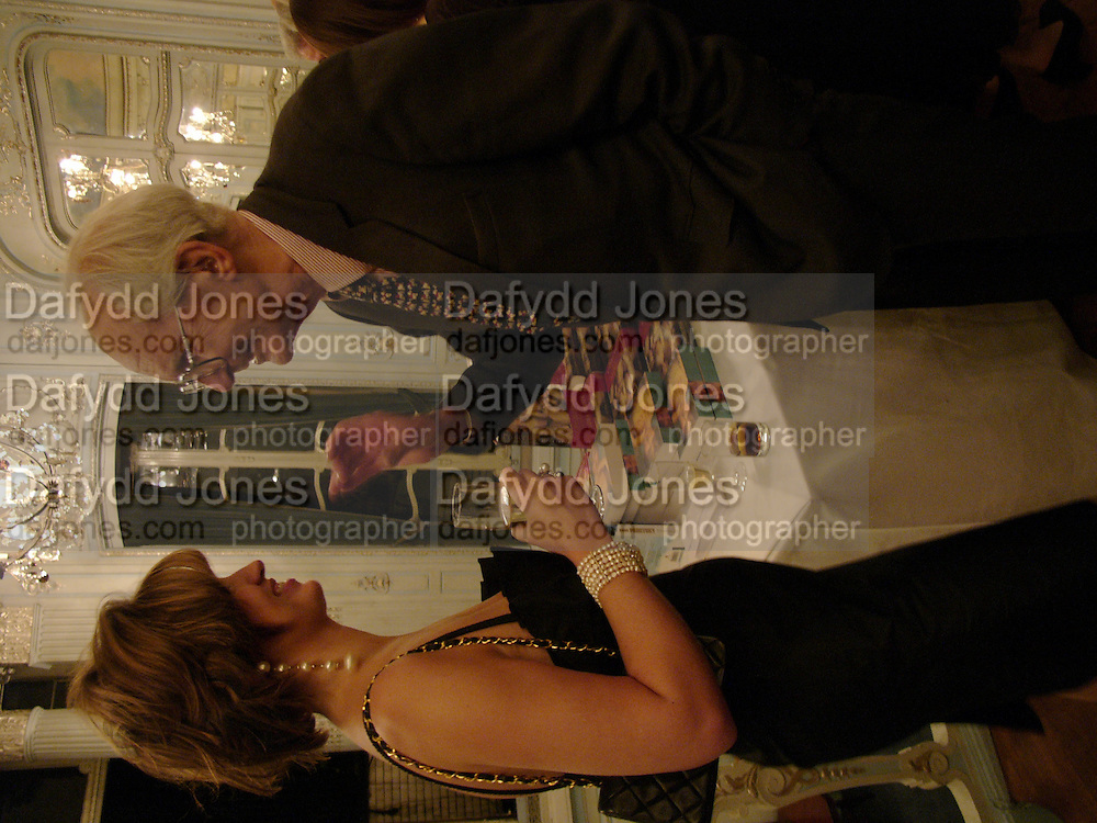 Petronella Wyatt and Sir Raymond Carr, Flora Fraser launch party for her book ' Princesses the Daughters of George 111' the Savile club, Brook St. 14 September 2004. SUPPLIED FOR ONE-TIME USE ONLY-DO NOT ARCHIVE. © Copyright Photograph by Dafydd Jones 66 Stockwell Park Rd. London SW9 0DA Tel 020 7733 0108 www.dafjones.com