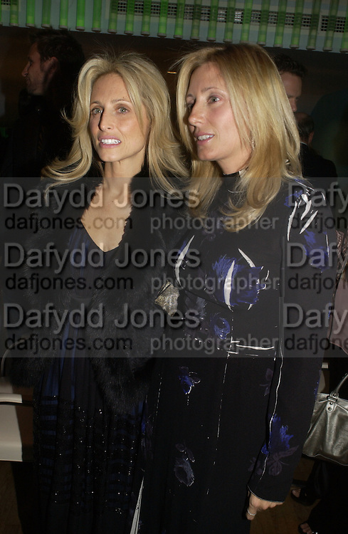 Pia Getty and Marie Chantal of Greece. Launch dinner for Island Beauty by India Hicks hosted by Charles Finch and Harvey Nichols Fifth Floor Restaurant. London. .  14  November 2005 . ONE TIME USE ONLY - DO NOT ARCHIVE © Copyright Photograph by Dafydd Jones 66 Stockwell Park Rd. London SW9 0DA Tel 020 7733 0108 www.dafjones.com