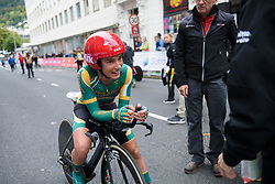 Ashleigh Moolman Pasio after the UCI Road World Championships Elite Women's Individual Time Trial 2017 a 21.1 km time trial in Bergen, Norway on September 19, 2017. (Photo by Sean Robinson/Velofocus)