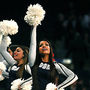 UConn cheerleaders during the Iowa State Cyclones Vs Connecticut Huskies basketball game during the 2014 NCAA Division 1 Men's Basketball Championship, East Regional at Madison Square Garden, New York, USA. 28th March 2014. Photo Tim Clayton