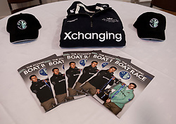 © Licensed to London News Pictures. 05/04/2012. London, U.K..merchandise at the The Xchanging Oxford & Cambridge University Boat Race - press conference. The crews meet the press to discuss the boat race on saturday 7th April...Photo credit : Rich Bowen/LNP