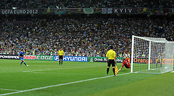 24.06.2012, Olympia Stadion, Kiew, UKR, UEFA EURO 2012, England vs Italien, Viertelfinale, im Bild il gol di Alessandro DIAMANTI (Italia) // during the UEFA Euro 2012 Quarter Final Match between Enland and Italy at the Olympic Stadium, Kiev, Ukraine on 2012/06/24. EXPA Pictures © 2012, PhotoCredit: EXPA/ Insidefoto/ Alessandro Sabattini..***** ATTENTION - for AUT, SLO, CRO, SRB, SUI and SWE only *****