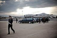 CIAMPINO. LE AUTO FUNEBRI PER IL TRASPORTO DELLE SALME DEI MILITARI CADUTI IN AFGHANISTAN