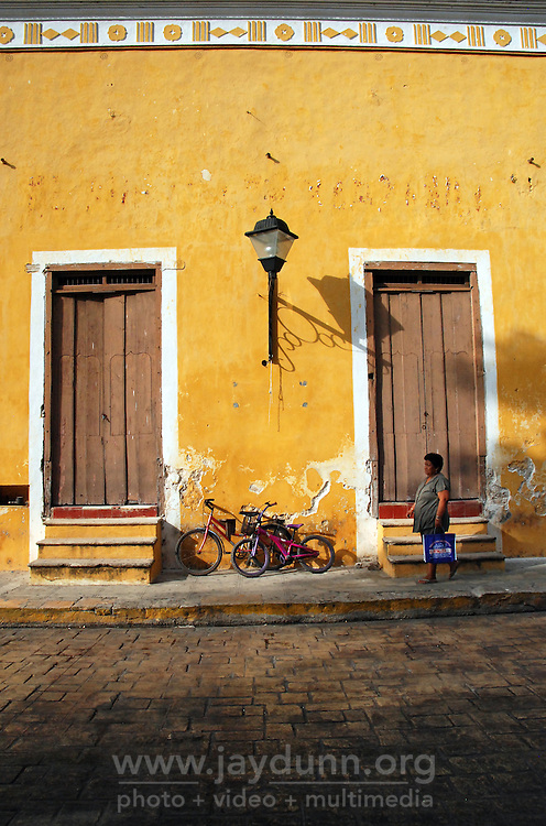 "Mexico, Yucatan, Izamal, October 18, 2010. Home to both Mayan ruins and Christian churches, Izamal, Yucatan is one of Mexico's designated ""magical towns,"" and is home to the remarkable ""Feria del Cristo Negro,"" celebrating the Black Christ with a legendary past. More at MexicoCulturalCalendar.com"