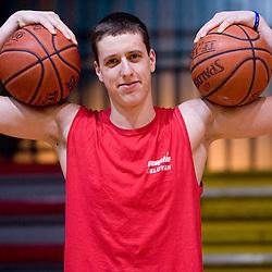 20100203: Basketball - Practice of KK Slovan, Kodeljevo, Ljubljana