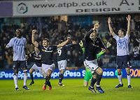 Football - 2018 / 2019 Emirates FA Cup - Fourth Round: Millwall vs. Everton<br /> <br /> Jake Cooper (Millwall FC) turns away in celebration after scoring his teams equalising goal at The Den.<br /> <br /> COLORSPORT/DANIEL BEARHAM