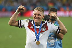13.07.2014, Maracana, Rio de Janeiro, BRA, FIFA WM, Deutschland vs Argentinien, Finale, im Bild Freude bei Bastian Schweinsteiger (GER) nach dem Gewinn der Weltmeisterschaft // during Final match between Germany and Argentina of the FIFA Worldcup Brazil 2014 at the Maracana in Rio de Janeiro, Brazil on 2014/07/13. EXPA Pictures © 2014, PhotoCredit: EXPA/ Eibner-Pressefoto/ Cezaro<br /> <br /> *****ATTENTION - OUT of GER*****