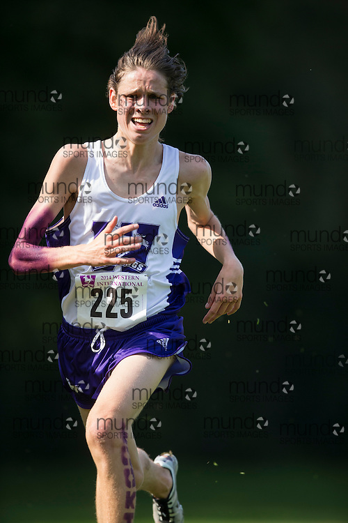 Jack Sheffar of the Western Mustangs runs at the 2014 Western International Cross country meet in London Ontario, Saturday,  September 20, 2014.<br /> Mundo Sport Images/ Geoff Robins