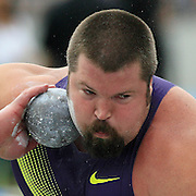 CANTWELL/DRAKE/10 - Christian Cantwell captured  his seventh Drake Relays career victory in the invitational shot put with a throw of 71 feet two inches, which ranks second on the outdoor world list.  photo by David Peterson