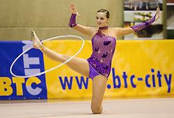 Tjasa Seme of Slovenia during 24th MTM International Youth Tournament in Rhythmic Gymnastics organized by Narodni dom Ljubljana, on April 9, 2011 in Arena Krim Galjevica, Ljubljana, Slovenia.  (Photo By Vid Ponikvar / Sportida.com)