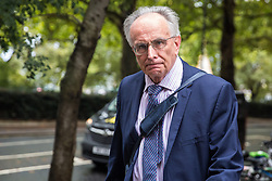 "London, UK. 25 September, 2019. Peter Bone, pro-Brexit Conservative MP for Wellingborough, walks towards Parliament on the day after the Supreme Court ruled that the Prime Minister's decision to suspend parliament was ""unlawful, void and of no effect"". Credit: Mark Kerrison/Alamy Live News"