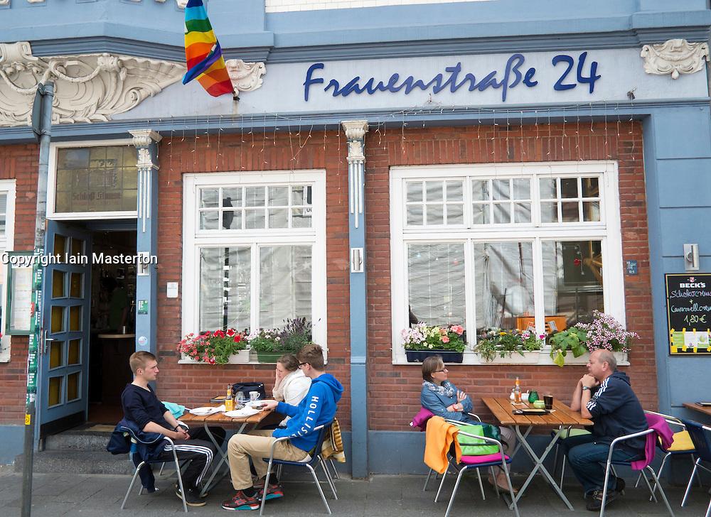 Cafe on Frauenstrasse in Munster Germany