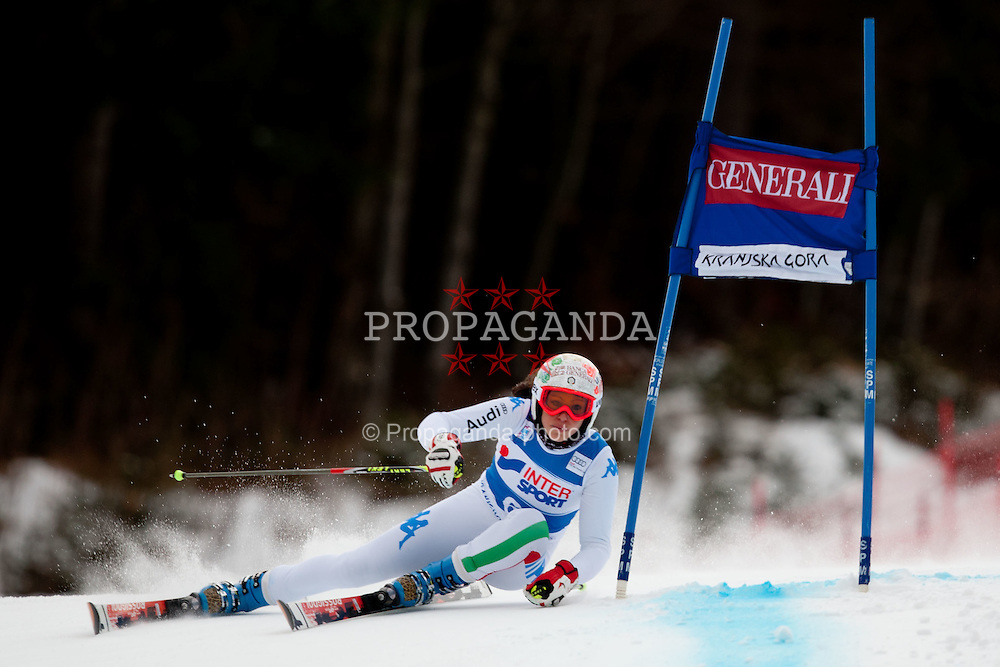 21.01.2012, Podkorn, Kranjska Gora, SLO, FIS Weltcup Ski Alpin, Kranjska Gora, Damen, Riesentorlauf, 1. Durchgang, im Bild Federica Brignone of Italy during 1st Run of 48th Golden Fox Audi Alpine FIS Ski World Cup Ladies Giant Slalom, on January 21, 2012 in Podkorn, Kranjska Gora, Slovenia. EXPA Pictures © 2012, PhotoCredit: EXPA/ Sportida/ Matic Klansek Velej..***** ATTENTION - OUT OF SLO *****