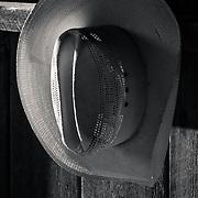 Hanging Cowboy Hat.
