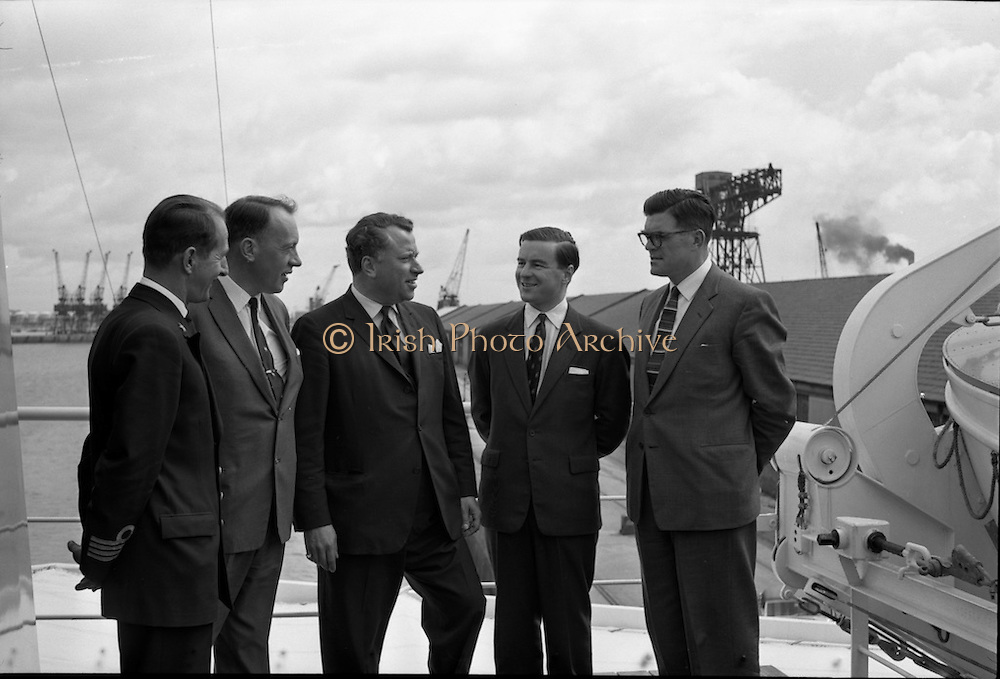 """Echo"" a new ship to sail the Holland Ireland line, visits Dublin Port. A reception was held on board the ship, docked at North Wall.<br />