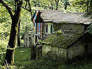 A forest in Terentino, Northern Italy fairytale house