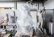 Rome, Vatican Museums, the sculpture Workshop