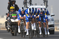 February 24, 2019 - Abu Dhabi, United Arab Emirates - Members of Deceuninck - Quick Step Team, during the Team Time Trial, the opening ADNOC stage of the inaugural UAE Tour 2019..On Sunday, February 24, 2019, Abu Dhabi, United Arab Emirates. (Credit Image: © Artur Widak/NurPhoto via ZUMA Press)