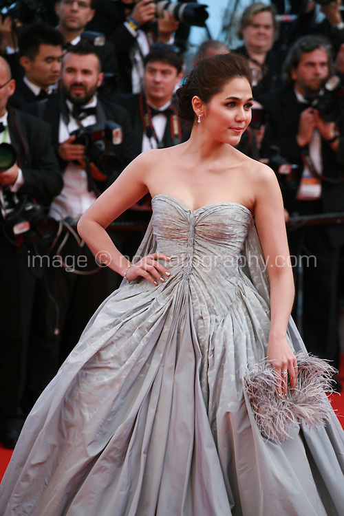 Araya A. Hargate at Sils Maria gala screening red carpet at the 67th Cannes Film Festival France. Friday 23rd May 2014 in Cannes Film Festival, France.