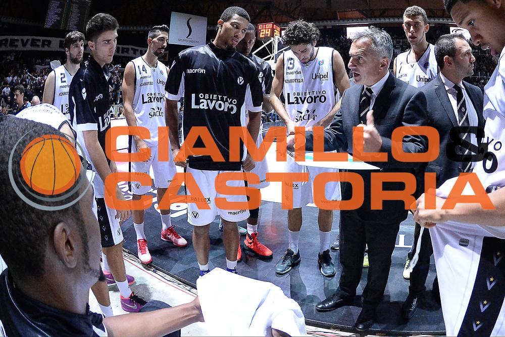 DESCRIZIONE : Bologna Lega A 2015-16 <br /> Obiettivo Lavoro Virtus Bologna Umana Reyer Venezia<br /> GIOCATORE : Giorgio Valli<br /> CATEGORIA : Allenatore Coach Time Out<br /> SQUADRA : Obiettivo Lavoro Virtus Bologna<br /> EVENTO : <br /> GARA : Obiettivo Lavoro Virtus Bologna Umana Reyer Venezia <br /> DATA : 04 Ottobre 2015<br /> SPORT : Pallacanestro<br /> AUTORE : Agenzia Ciamillo-Castoria/M.Longo<br /> Galleria : Lega Basket A 2015-2016<br /> Fotonotizia : <br /> Predefinita :
