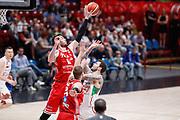 Ancellotti Andrea stoppata, EA7 EMPORIO ARMANI OLIMPIA MILANO vs VL PESARO, 28^ Campionato Lega Basket Serie A 2017/2018, Mediolanum Forum Assago (MI) 29 aprile 2018 - FOTO: Bertani/Ciamillo