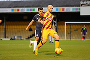Bradford City midfielder Nicky Law (4) receiving the ball during the EFL Sky Bet League 1 match between Southend United and Bradford City at Roots Hall, Southend, England on 19 November 2016. Photo by Matthew Redman.