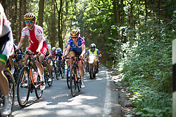 Amy Pieters (NED) of Team Netherlands rides mid-pack on the climb leading to Moschlitz on Stage 1 of the Lotto Thuringen Ladies Tour - a 124.8 km road race, starting and finishing in Schleiz on July 13, 2017, in Thuringen, Germany. (Photo by Balint Hamvas/Velofocus.com)