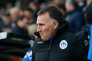 Wigan Athletic manager Warren Joyce during the EFL Sky Bet Championship match between Derby County and Wigan Athletic at the iPro Stadium, Derby, England on 31 December 2016. Photo by Richard Holmes.