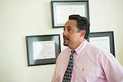 Brewster County Judge Eleazar Cano in Alpine, Texas on June 18, 2015. (Cooper Neill for The Texas Tribune)