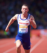 Richard Kilty GBR competing in the 100m heat during the IAAF  Diamond League Sainsbury's Birmingham Grand Prix at Alexander Stadium, Birmingham<br /> Picture by Alan Stanford/Focus Images Ltd +44 7915 056117<br /> 07/06/2015