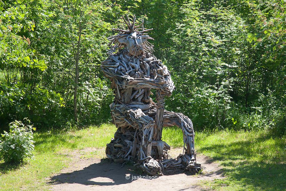 Wooden Sculpture, Emumägi, Estonia