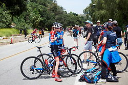 Clara Koppenburg (GER) confirms the team have earned the most combative jersey at Amgen Tour of California Women's Race empowered with SRAM 2019 - Stage 3, a 126 km road race from Santa Clarita to Pasedena, United States on May 18, 2019. Photo by Sean Robinson/velofocus.com
