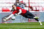 Sunderland goalkeeper Jason Steele (1) warming up  during the EFL Sky Bet Championship match between Sunderland and Wolverhampton Wanderers at the Stadium Of Light, Sunderland, England on 6 May 2018. Picture by Simon Davies.