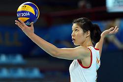 China Xu Yunli serves