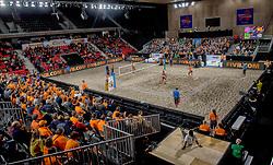 07-01-2018 NED: DELA Beach Open day 5, Den Haag<br /> Support publiek fans, sfeer, Oranje, centercourt