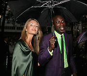 Gyunel and Oswald Boateng, Premiere of The Bourne Ultimatum. Odeon, Leicester Sq. London. 15 August 2007.   -DO NOT ARCHIVE-© Copyright Photograph by Dafydd Jones. 248 Clapham Rd. London SW9 0PZ. Tel 0207 820 0771. www.dafjones.com.