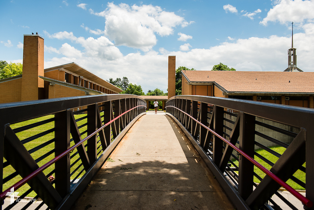 An exterior photograph of the walking bridge at Concordia University Ann Arbor on Wednesday, July 2, 2014, in Ann Arbor, Mich. LCMS Communications/Erik M. Lunsford