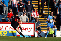 Photo: Alan Crowhurst.<br />Wycombe Wanderers v Lincoln City. Coca Cola League 2. 23/09/2006. Mark Stallard of Lincoln (L) scores his second goal 1-3.