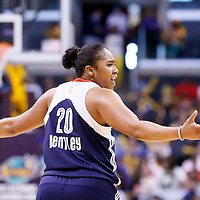 03 August 2014: Connecticut Sun guard Alex Bentley (20) reacts during the Los Angeles Sparks 70-69 victory over the Connecticut Sun, at the Staples Center, Los Angeles, California, USA.