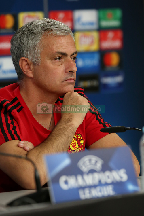 October 17, 2017 - Lisbon, Portugal - Manchester United's Portuguese head coach Jose Mourinho attends a press conference at the Luz stadium in Lisbon, Portugal on October 17, 2017, on the eve of the UEFA Champions League football match SL Benfica vs Manchester United. (Credit Image: © Pedro Fiuza/NurPhoto via ZUMA Press)
