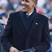 President Obama leaving the Navy Midshipmen side of the field during the 112th version of the Army & Navy rivalry Saturday, Dec. 10, 2011 at Fed EX field in Landover Md. ..Navy set the tone early in the game as Navy defeats Army 31-17 in front of 82,000 at Fed EX Field in Landover Md