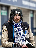 Millwall fan during the FA Cup match at The Den, London<br /> Picture by Liam McAvoy/Focus Images Ltd 07413 543156<br /> 29/01/2017