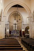 Inside the Duomo church along Corso Umberto, Taormina, Sicily, Italy
