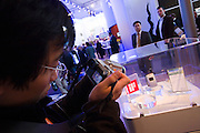 CeBit in Hannover/Lower Saxony is the the world's biggest annual IT fair..Copying mobile phones for the Chinese market.