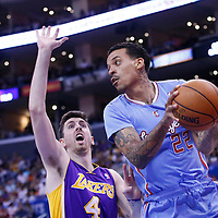06 April 2014: Los Angeles Clippers forward Matt Barnes (22) looks to pass the ball during the Los Angeles Clippers 120-97 victory over the Los Angeles Lakers at the Staples Center, Los Angeles, California, USA.