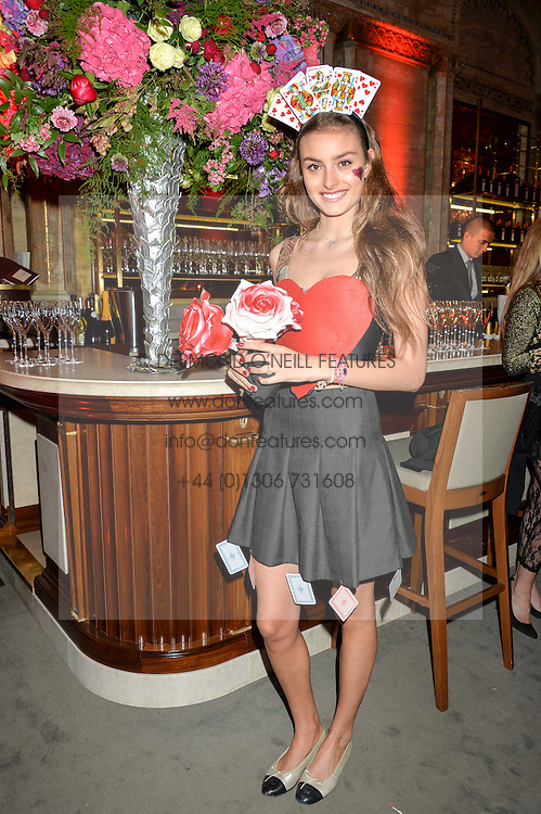 MILANA VON ABENSPERG UND TRAUN at the Tatler Magazine's Kings & Queens party held at Savini at Criterion, Piccadilly, London on 1st June 2016.