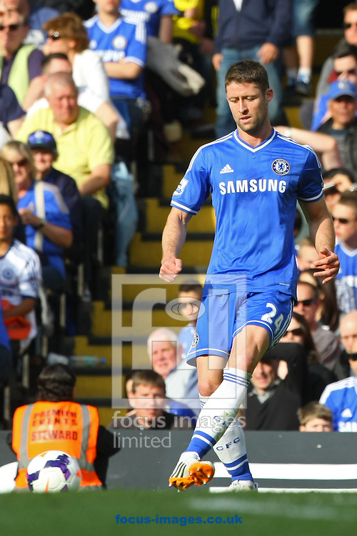 Gary Cahill of Chelsea in action during the Barclays Premier League match at Stamford Bridge, London<br /> Picture by Paul Chesterton/Focus Images Ltd +44 7904 640267<br /> 04/05/2014