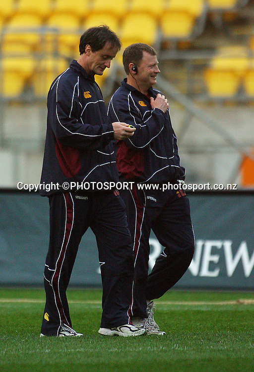 Southland coaches David Henderson and Simon Culhane.<br /> Air NZ Cup semi-final. Wellington Lions v Southland Stags at Westpac Stadium, Wellington, New Zealand, Friday, 17 October 2008. Photo: Dave Lintott/PHOTOSPORT